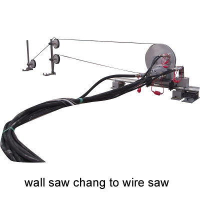 Wall Saw uesd as Wire Saw